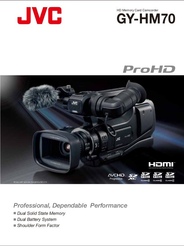 HD Memory Card Camcorder      SpecificationsGY-HM70 General Power Power consumption                                       ...