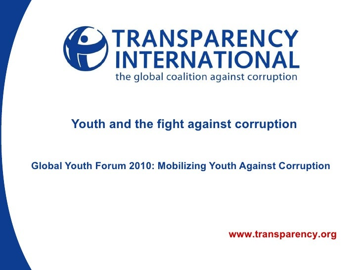 Youth and the fight against corruption