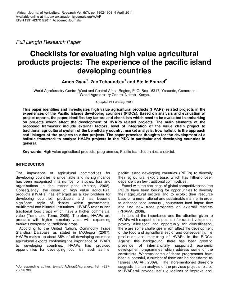 African Journal of Agricultural Research Vol. 6(7), pp. 1902-1908, 4 April, 2011Available online at http://www.academicjou...
