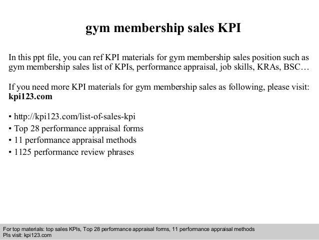 gym membership business plan