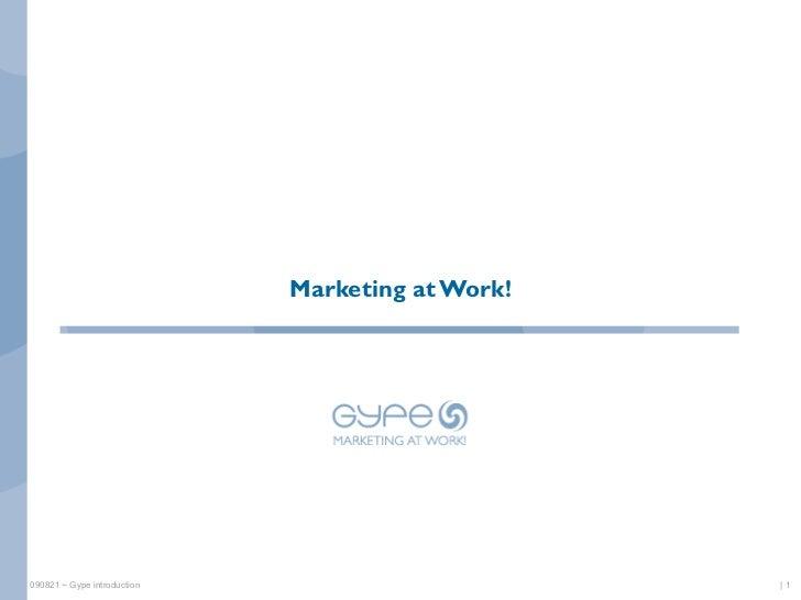 Marketing at Work!