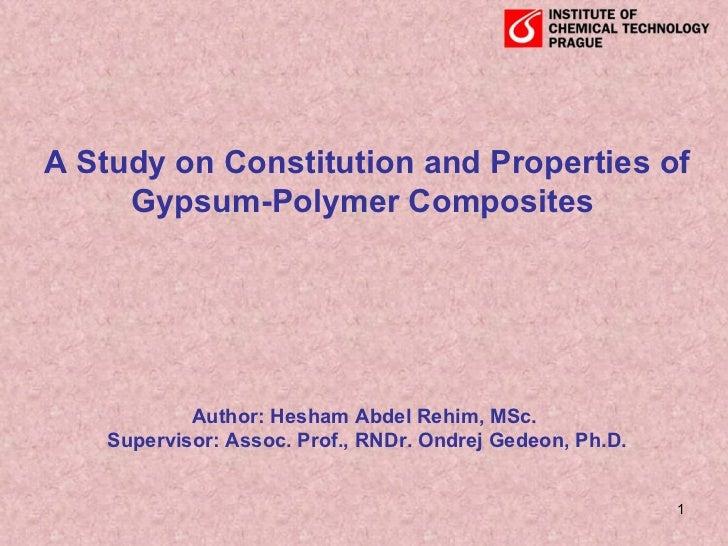 Gypsum polymer composites 2008