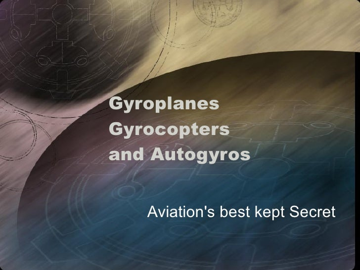 Gyrocopter An Introduction