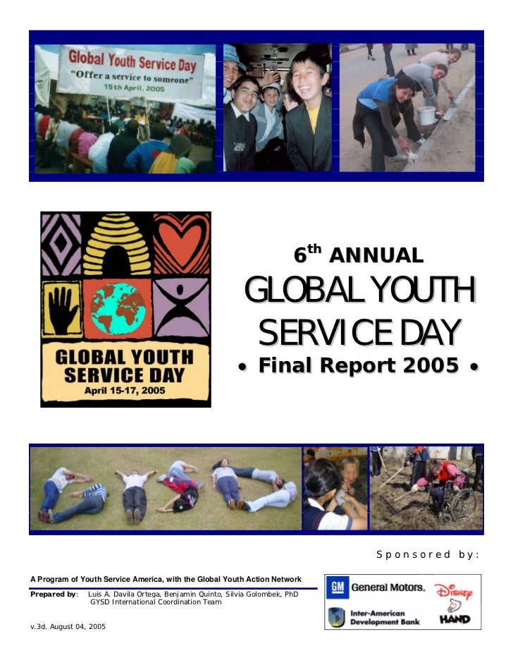 6th ANNUAL                                                            GLOBAL YOUTH                                        ...