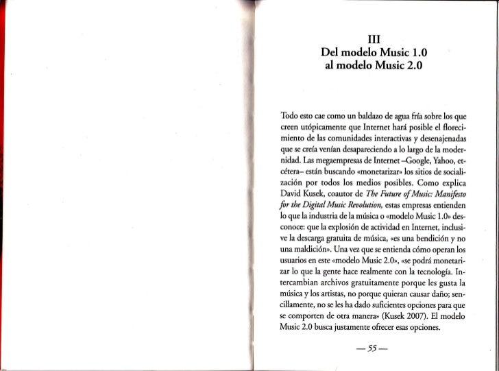 ilI             Del modelo Music 1.0              al modelo Music2.0Todo esto cae como un baldazo de agua fr{a sobre los q...