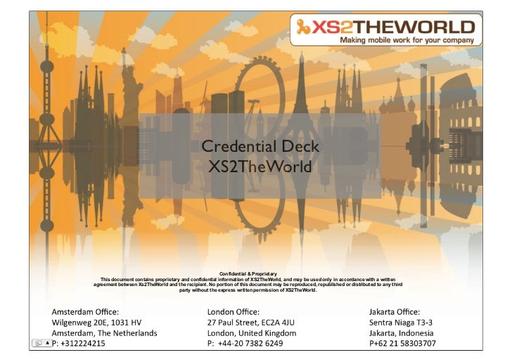 Credential Deck                                                XS2TheWorld                                                ...