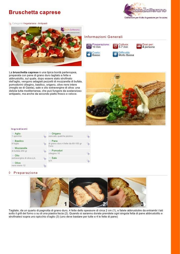 Bruschetta caprese   Categoria:Vegetariana - Antipasti                                                                    ...
