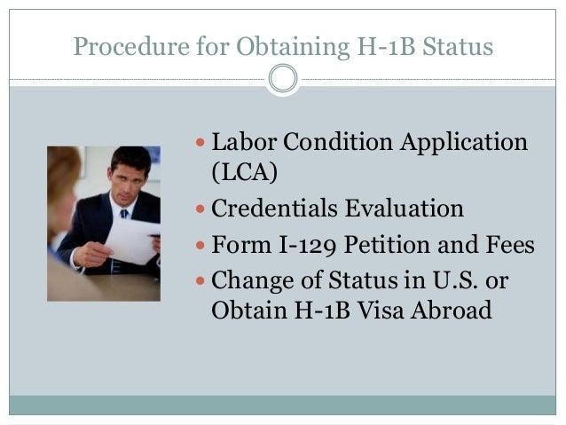 Procedure for Obtaining H-1B H 1b Temporary