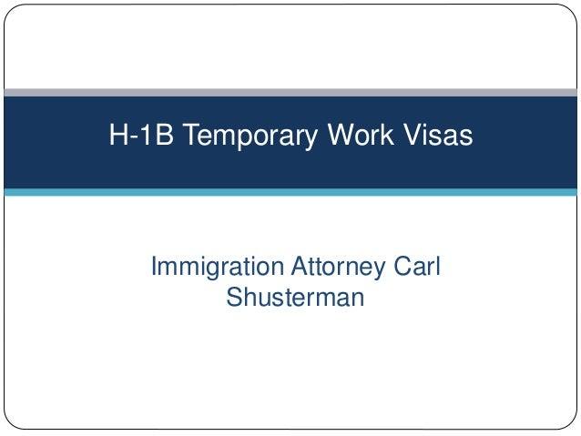 H-1B Temporary Work Visas H 1b Temporary