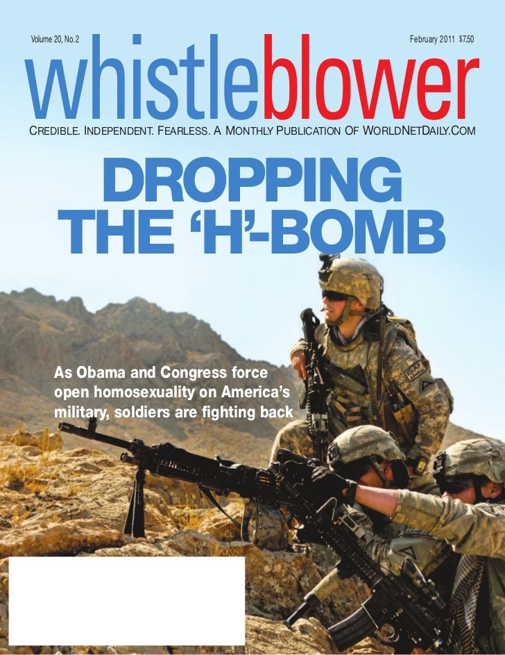 whistleblowerVolume 20, No.2                                                February 2011 $ 7.50CREDIBLE. INDEPENDENT. FEA...