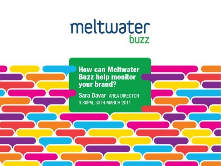What is Meltwater Buzz?• Listen• Analyze• Engage