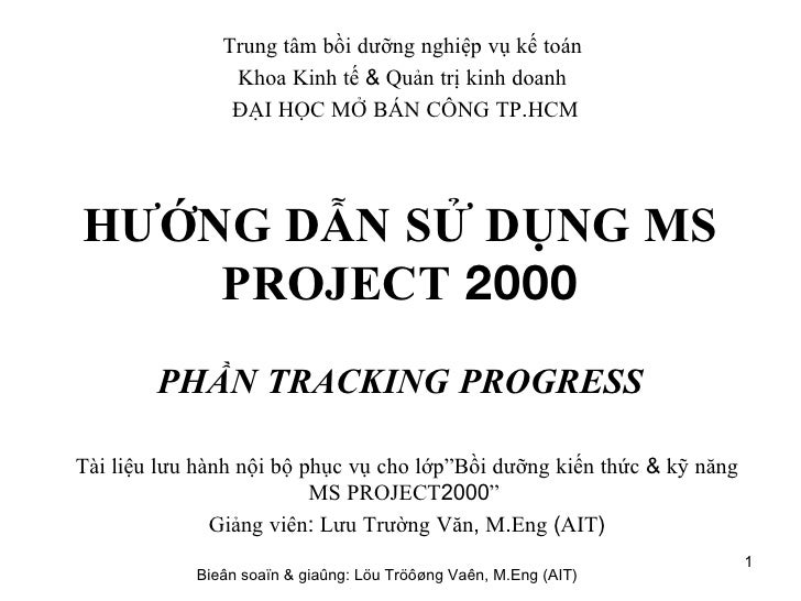 H Dan Bai Tap Ms Project Tracking