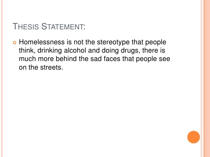 Thesis statements for alcohol