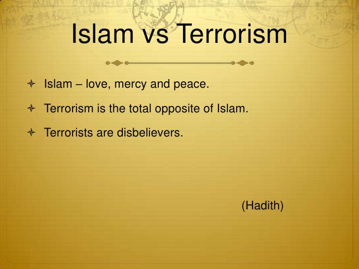 essays about islam and terrorism