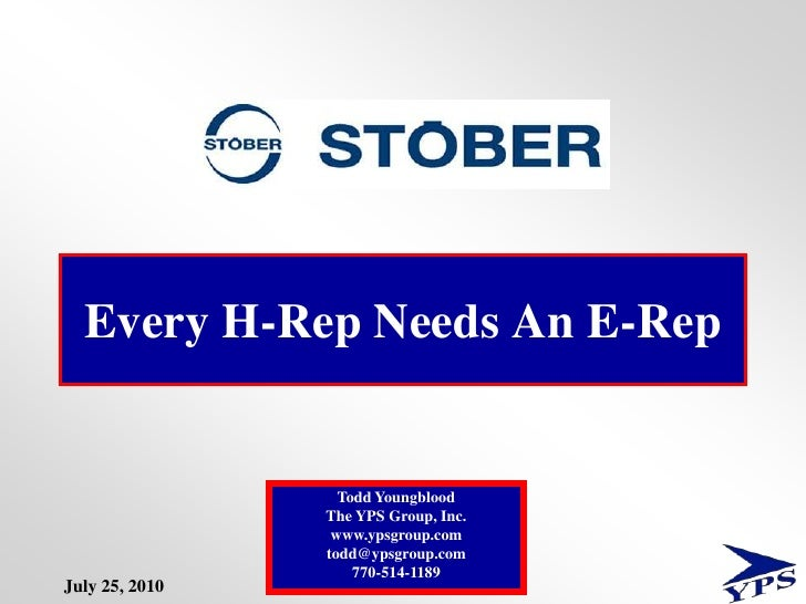 Every H-Rep Needs An E-Rep<br />1<br />Todd Youngblood                                                                    ...