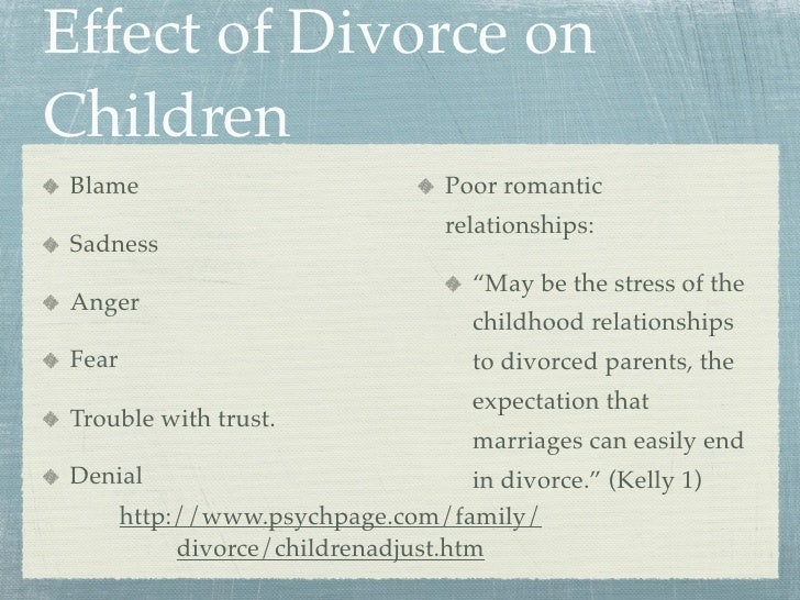 an analysis of divorce effects on parent and children Effects of parental divorce on childrens growth print reference this   this essay reviewed relevant literatures and conducted a critical analysis towards the literatures  the.