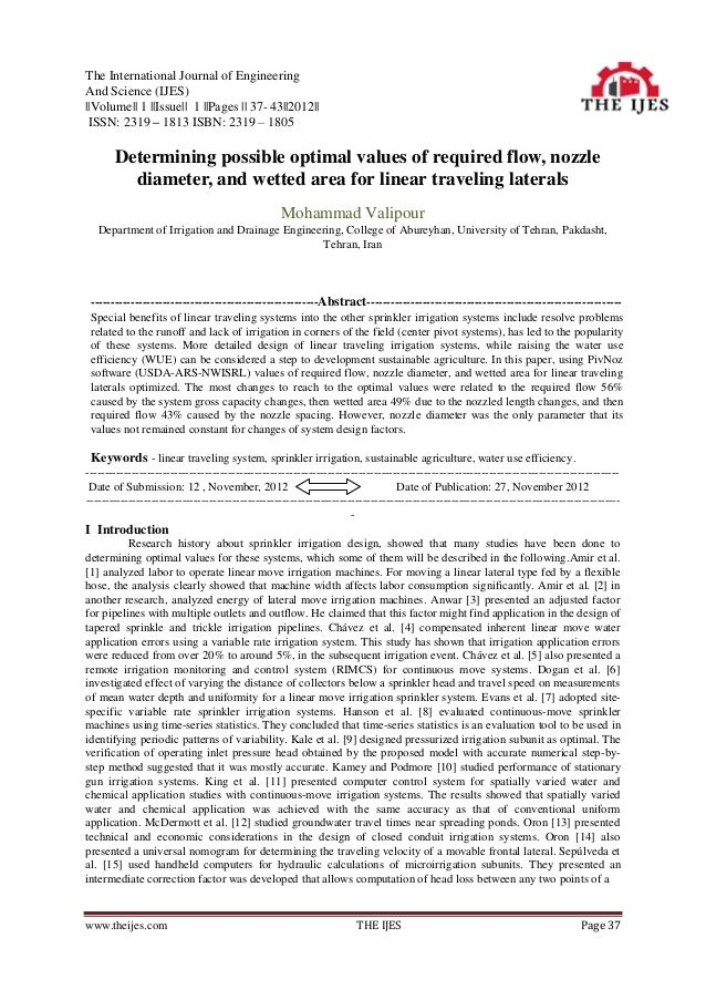 The International Journal of EngineeringAnd Science (IJES)||Volume|| 1 ||Issue|| 1 ||Pages || 37- 43||2012|| ISSN: 2319 – ...