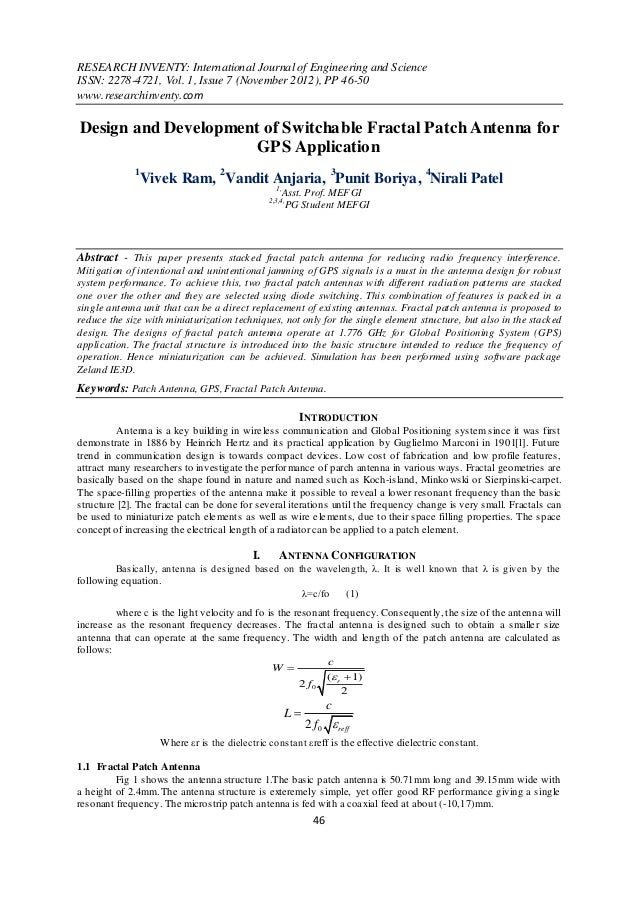 RESEARCH INVENTY: International Journal of Engineering and ScienceISSN: 2278-4721, Vol. 1, Issue 7 (November 2012), PP 46-...