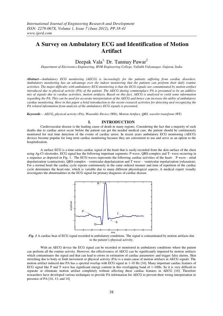 A Survey on Ambulatory ECG and Identification of Motion Artifact