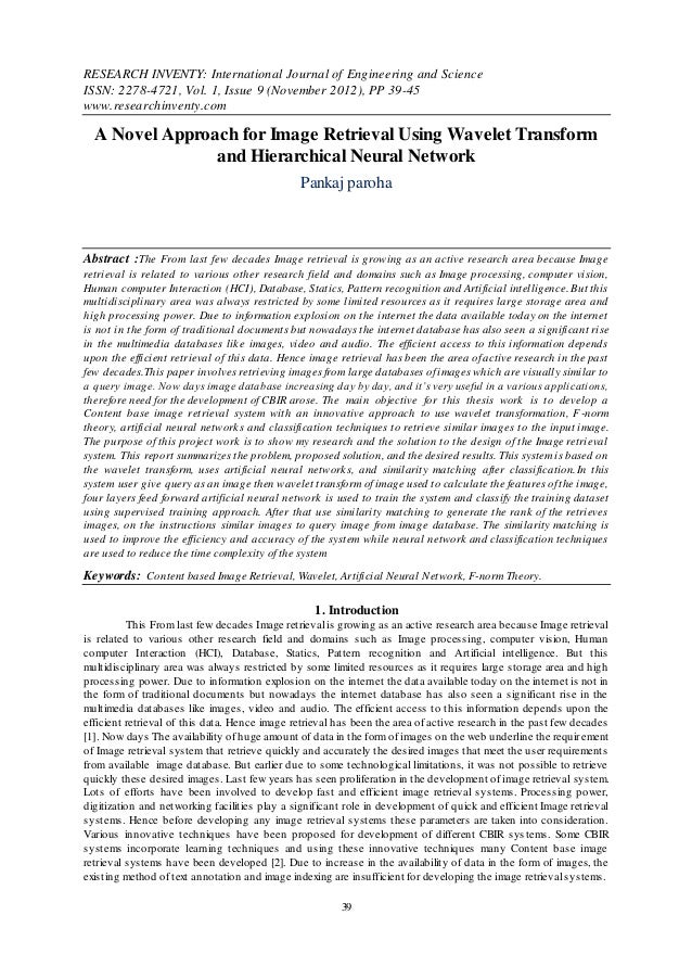 RESEARCH INVENTY: International Journal of Engineering and ScienceISSN: 2278-4721, Vol. 1, Issue 9 (November 2012), PP 39-...