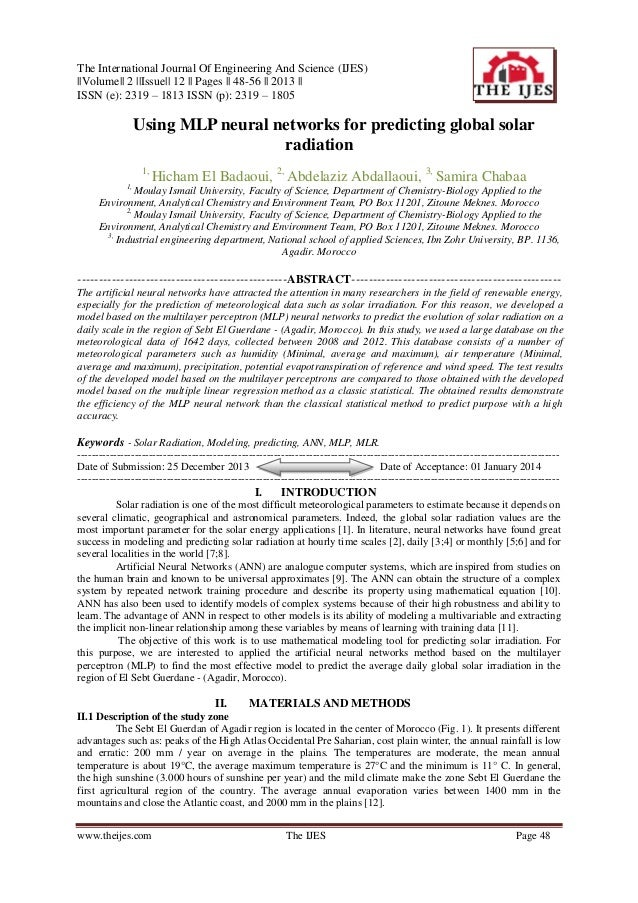 The International Journal Of Engineering And Science (IJES) ||Volume|| 2 ||Issue|| 12 || Pages || 48-56 || 2013 || ISSN (e...