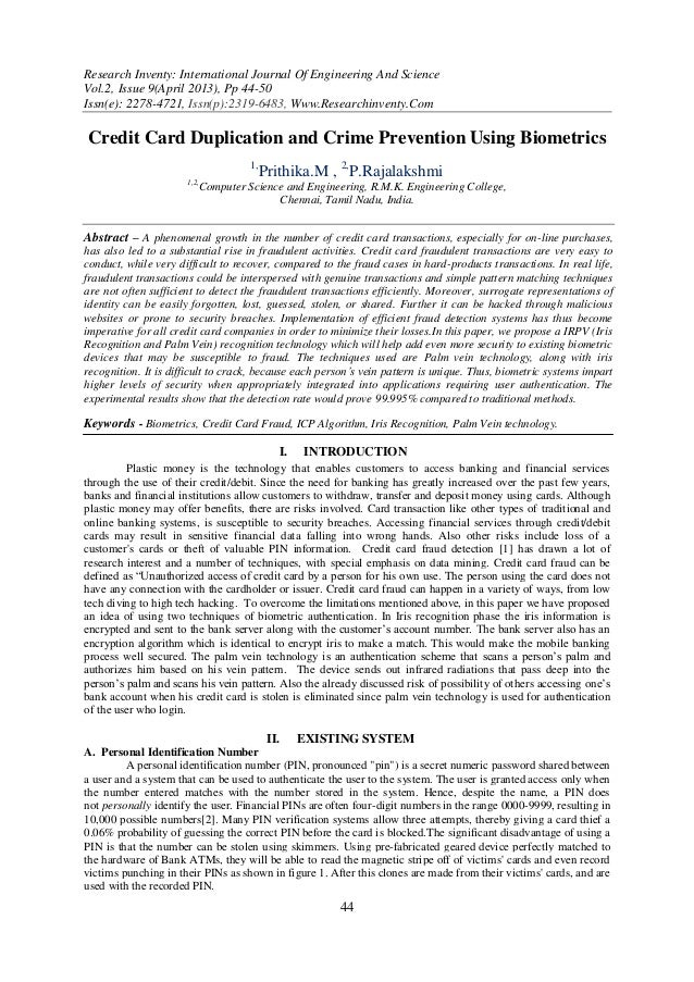 Research Inventy: International Journal Of Engineering And ScienceVol.2, Issue 9(April 2013), Pp 44-50Issn(e): 2278-4721, ...
