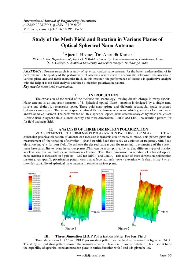 Study of the Mesh Field and Rotation in Various Planes of Optical Spherical Nano Antenna