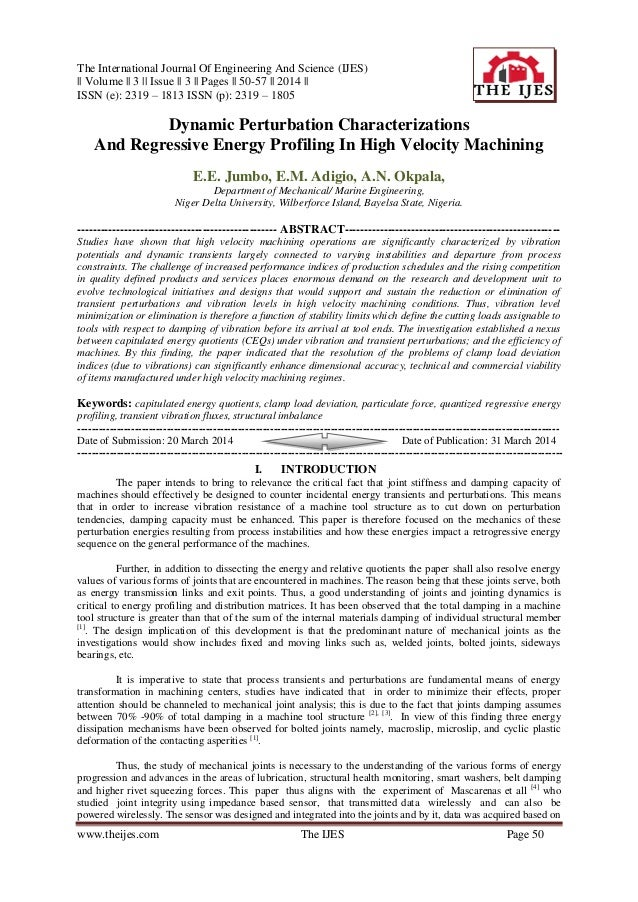 The International Journal Of Engineering And Science (IJES) || Volume || 3 || Issue || 3 || Pages || 50-57 || 2014 || ISSN...