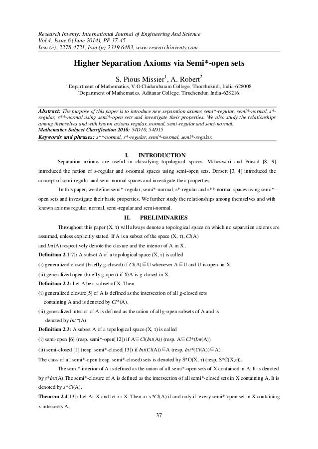 Research Inventy: International Journal of Engineering And Science Vol.4, Issue 6 (June 2014), PP 37-45 Issn (e): 2278-472...