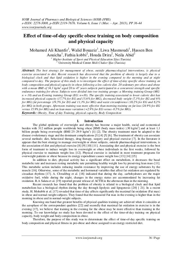 IOSR Journal of Pharmacy and Biological Sciences (IOSR-JPBS)e-ISSN: 2278-3008, p-ISSN:2319-7676. Volume 6, Issue 1 (Mar. –...