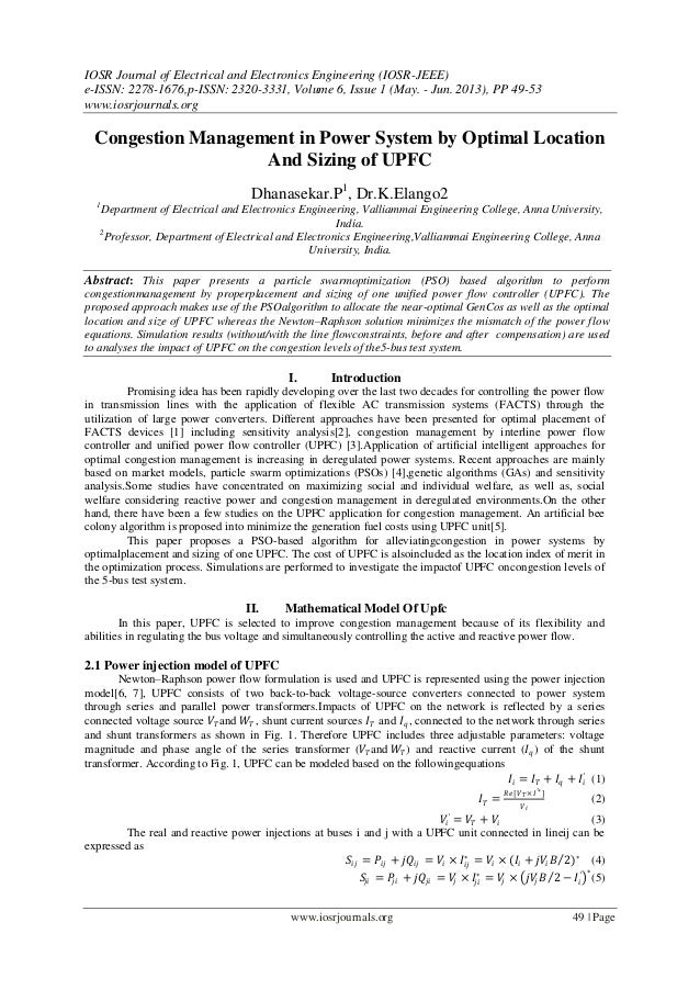 IOSR Journal of Electrical and Electronics Engineering (IOSR-JEEE) e-ISSN: 2278-1676,p-ISSN: 2320-3331, Volume 6, Issue 1 ...