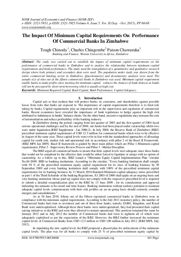 impact of it on bank performance Abstract: this paper investigates the impact of a bank's community  the  relationship between corporate social performance (csp) and corporate financial.