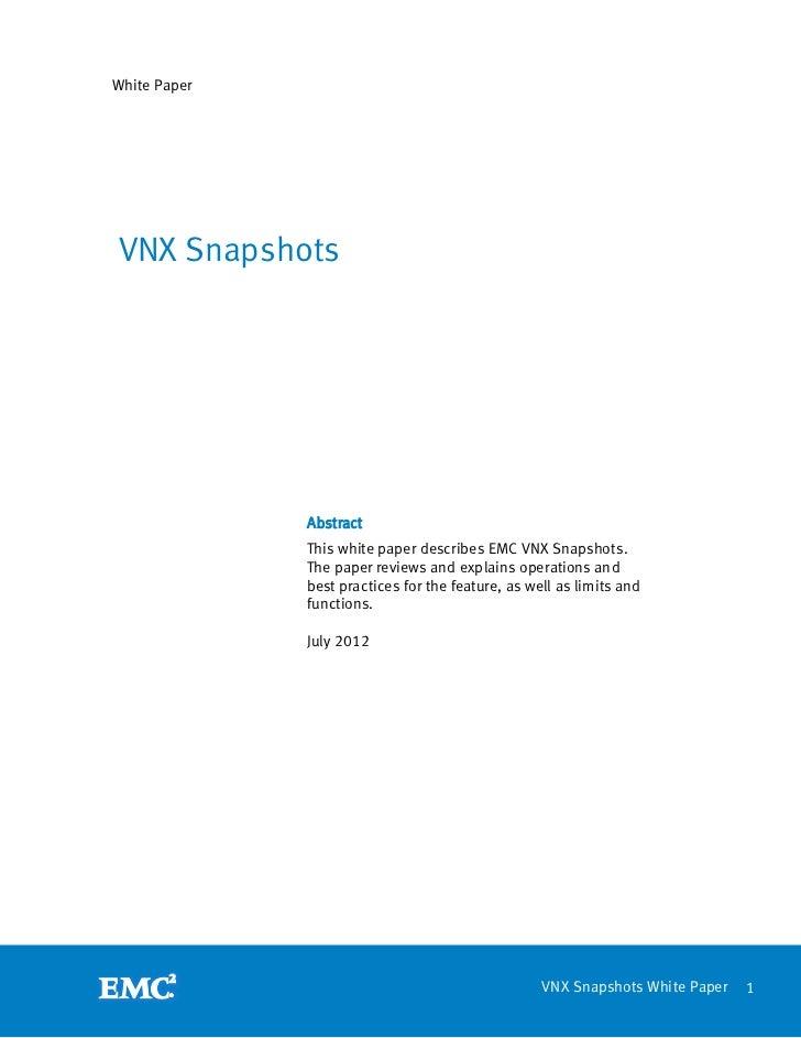 VNX Snapshots
