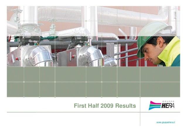Analyst presentation: first Half 2009 Results