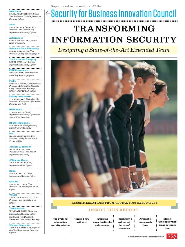 Transforming Information Security: Designing a State-of-the-Art Extended Team