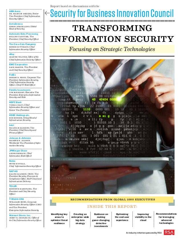 transforming information security ABN Amro Dr. Martijn Dekker, Senior Vice President, Chief Information Security Officer A...