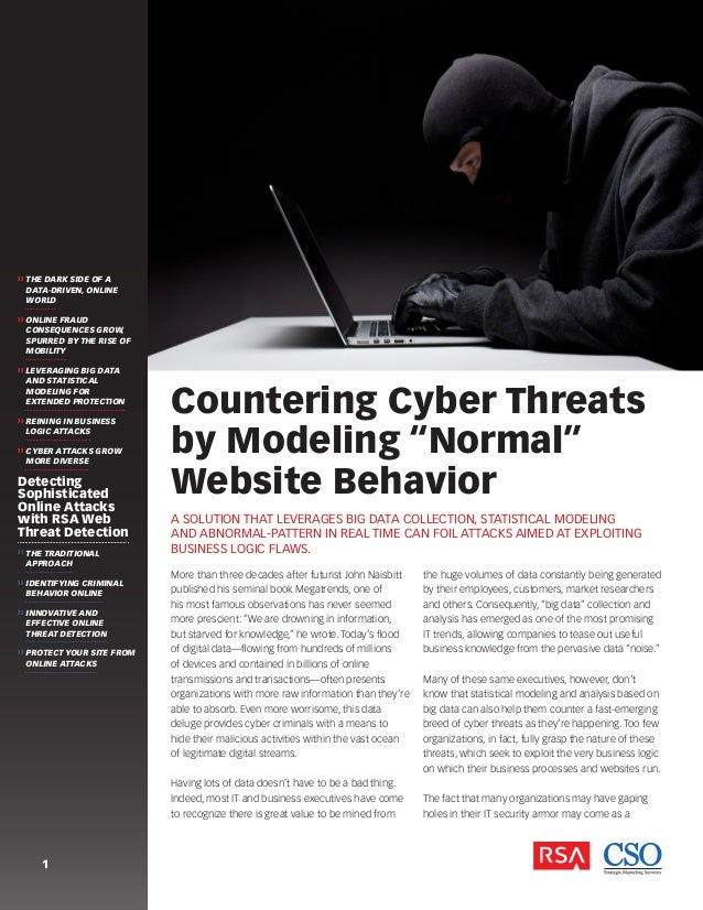 """Countering Cyber Threats By Monitoring """"Normal"""" Website Behavior"""