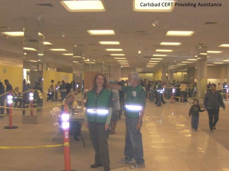 Carlsbad CERT Providing Assistance <br />