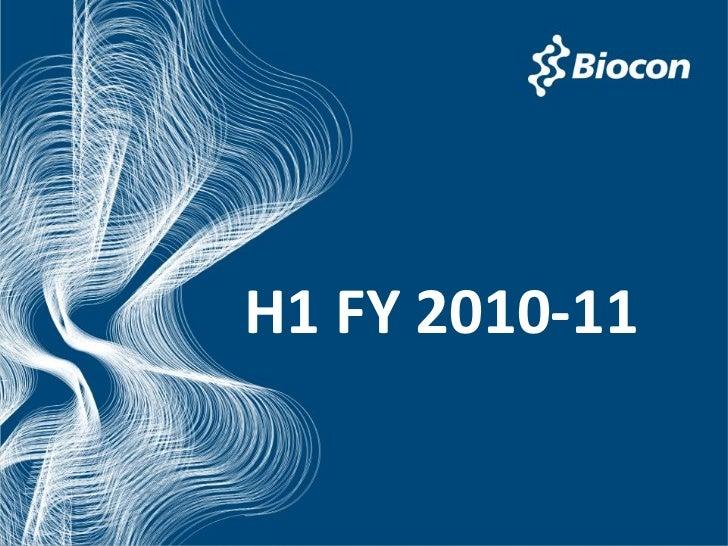 Biocon H1 q2fy10 11