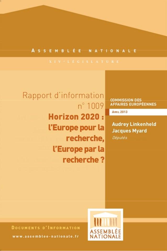 DIAN 33/2013Grâce aux programmes-cadres de recherche et de développement, l'Europetient son rang de puissance majeure en m...