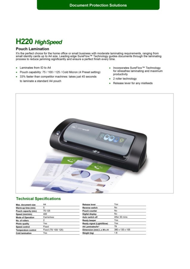 HighSpeed A4 Laminator