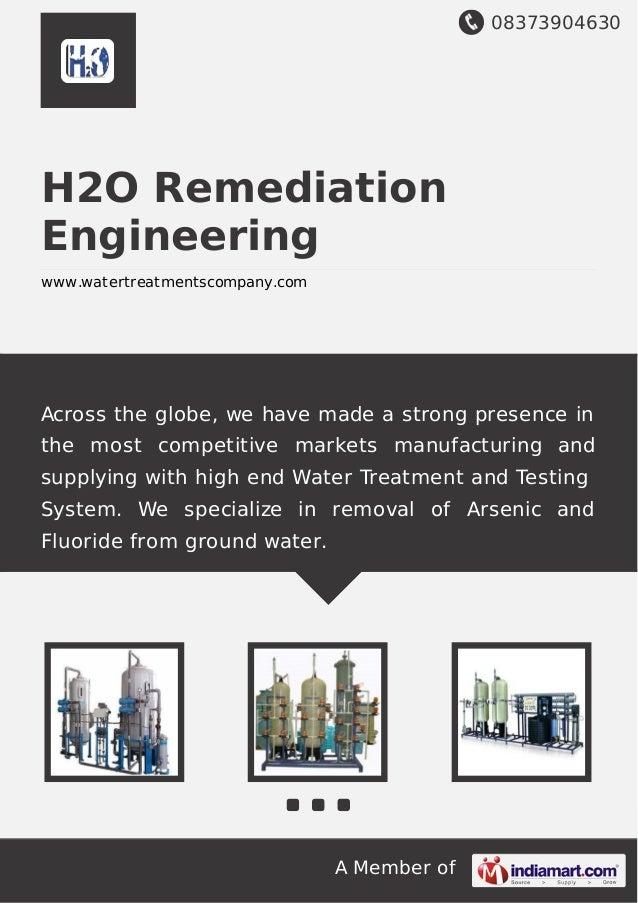 H2o remediation-engineering
