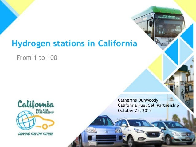 Hydrogen stations in California From 1 to 100  Catherine Dunwoody California Fuel Cell Partnership October 23, 2013