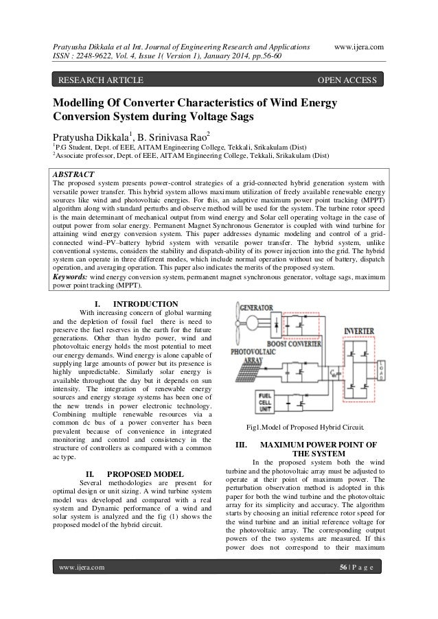 Pratyusha Dikkala et al Int. Journal of Engineering Research and Applications ISSN : 2248-9622, Vol. 4, Issue 1( Version 1...