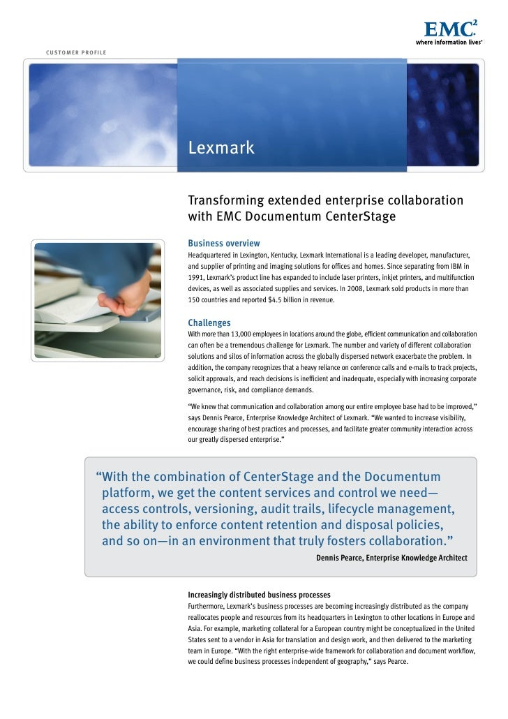 Transforming extended enterprise collaboration with EMC Documentum CenterStage
