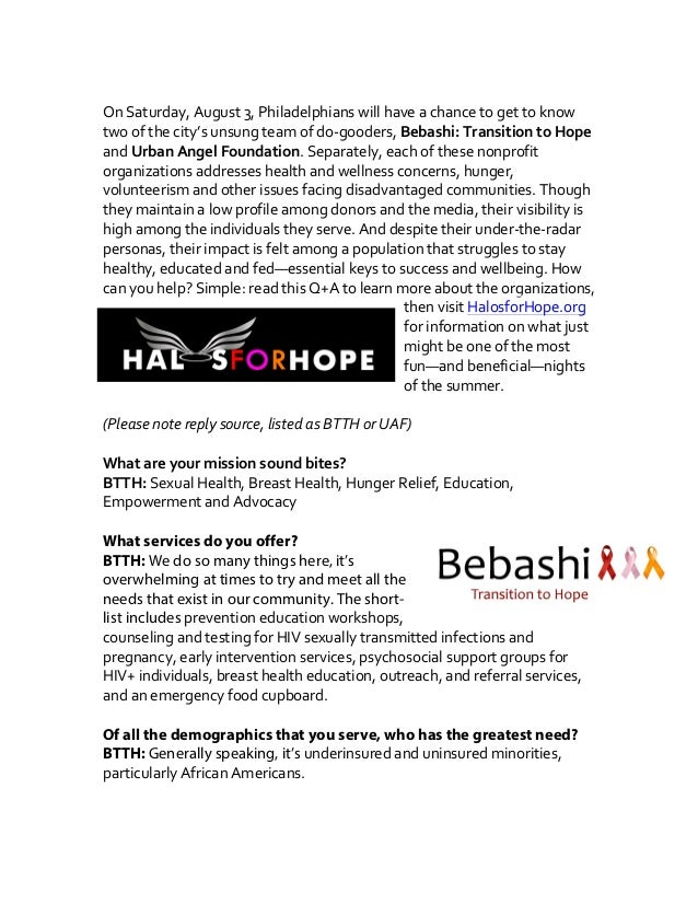 Halos for Hope: A Fundraiser for Change