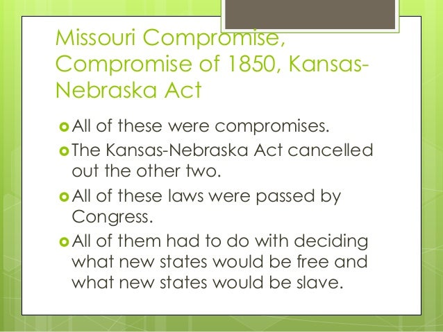 thesis on missouri compromise