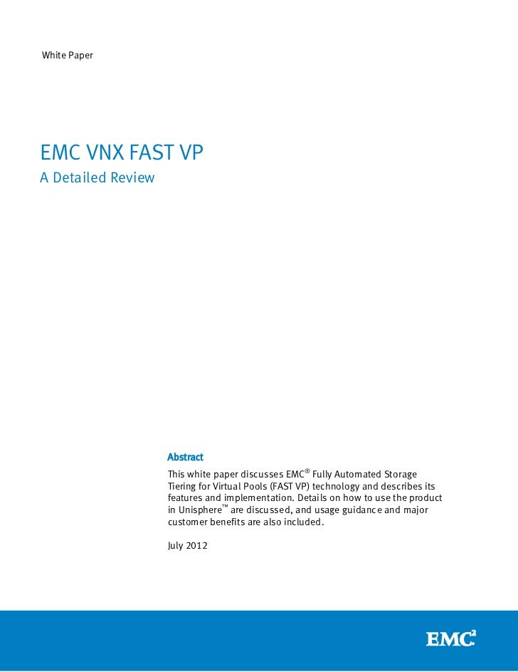 EMC FAST VP for Unified Storage Systems