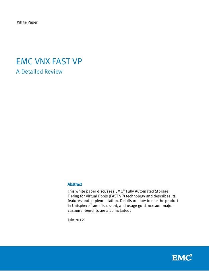 EMC VNX FAST VP