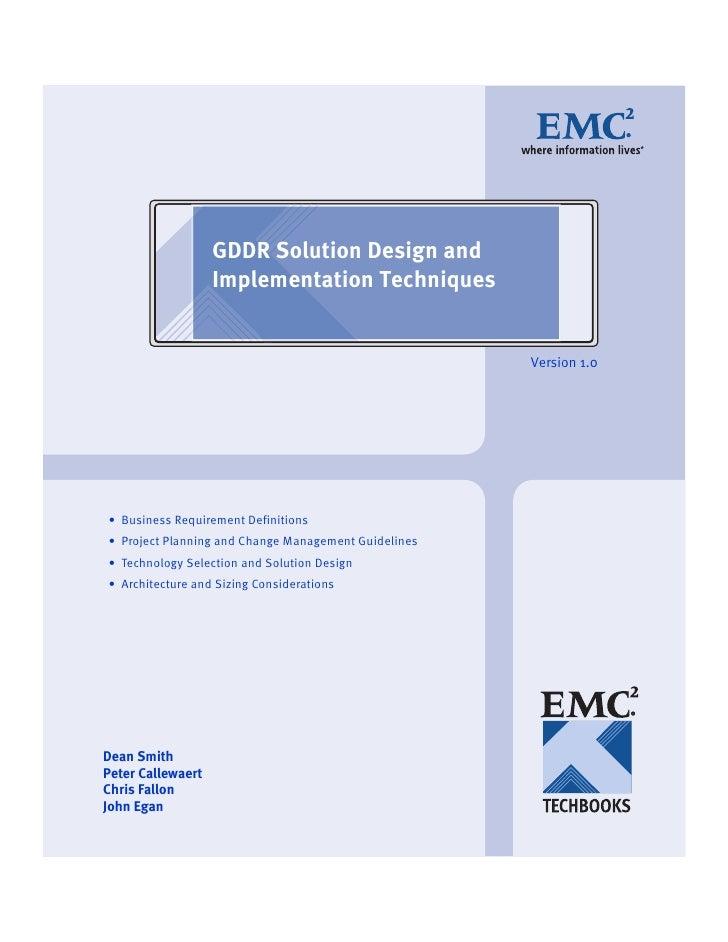 GDDR Solution Design and                   Implementation Techniques                                                      ...